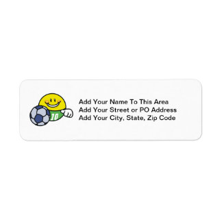 Smiley Soccer T shirts and Gifts Return Address Label
