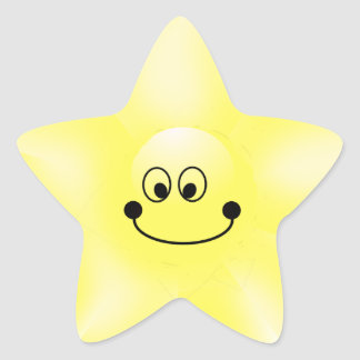 Smiley Star Stickers