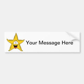Smiley Starfish the Sea Star Bumper Sticker