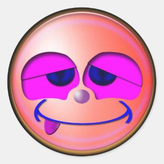 Smiley Round Sticker