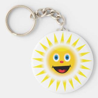 Smiley Sun Key Chains
