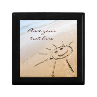 Smiley Sun On The Beach Gift Box