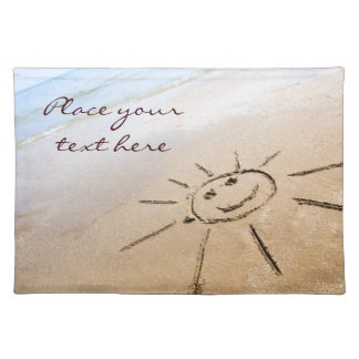 Smiley Sun On The Beach Placemat