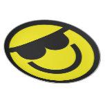 Smiley sunglass plate