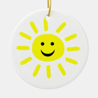 Smiley Sunshine Round Ceramic Decoration