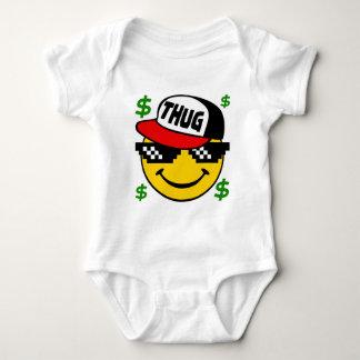 Smiley Thug Emoticon Baby Bodysuit