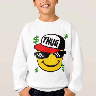 Smiley Thug Emoticon Sweatshirt