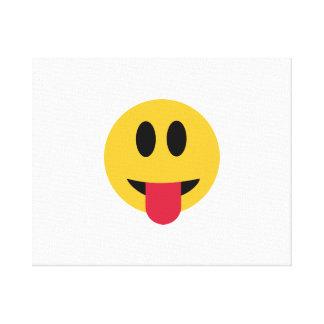 Smiley tongue canvas prints