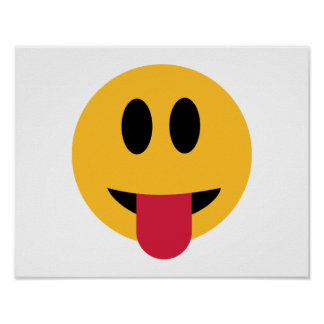 Smiley tongue poster