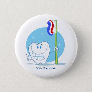 Smiley Tooth (customizable) 6 Cm Round Badge