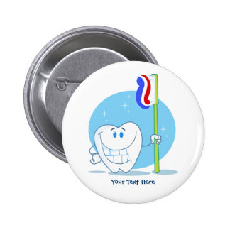 Smiley Tooth (customizable) 6 Cm Round Badge
