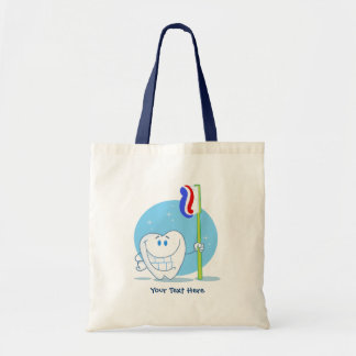 Smiley Tooth (customizable) Budget Tote Bag