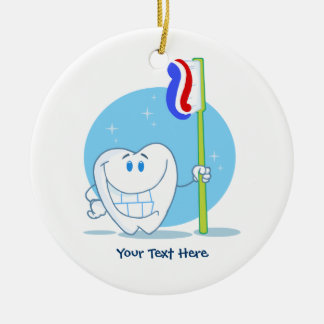 Smiley Tooth (customizable) Christmas Ornament
