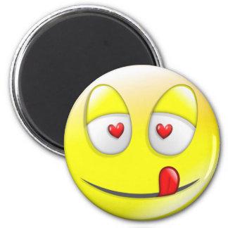 Smiley Valentine 6 Cm Round Magnet