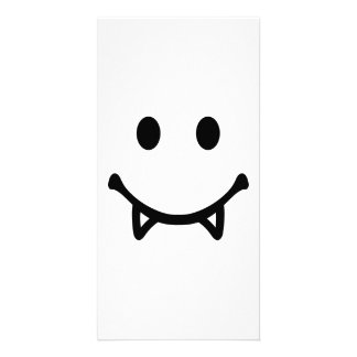 Smiley Vampire Photo Card Template