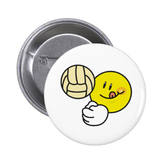 Smiley Volleyball 6 Cm Round Badge