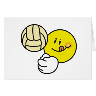 Smiley Volleyball Greeting Card