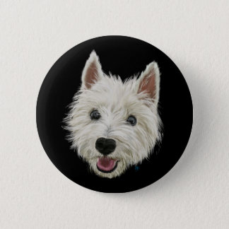 Smiley Westie 6 Cm Round Badge