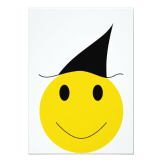 Smiley witch. Halloween t-shirts, cards and gifts. 13 Cm X 18 Cm Invitation Card