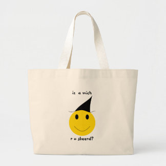 Smiley witch with LOLspeak Tote Bag