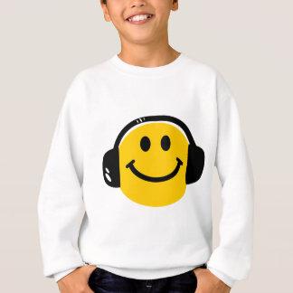 Smiley with headphones sweatshirt