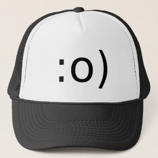 smiley with nose trucker hat