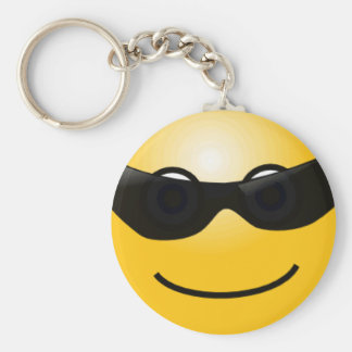 Smiley With Sunglasses Keychain