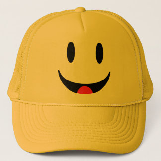Smiley With Tongue Face Trucker Hat