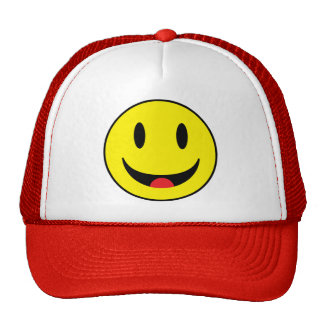Smiley With Tongue Mesh Hats