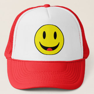Smiley With Tongue Trucker Hat