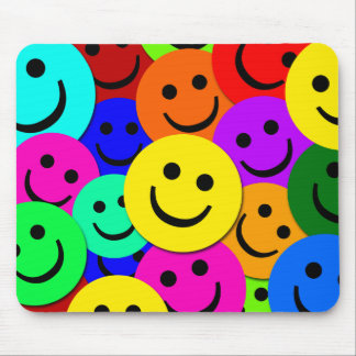 SMILEYS COLLAGE MOUSE MAT