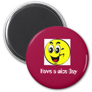 smili6, Have A nice Day 6 Cm Round Magnet
