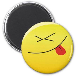 Smilie:) 6 Cm Round Magnet