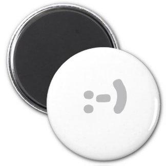 smilie 6 cm round magnet