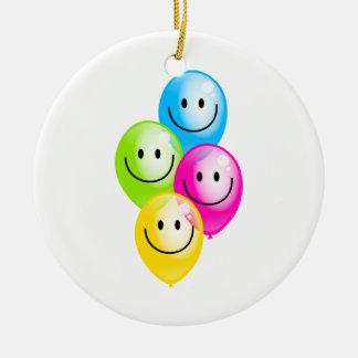 Smilie Balloons Christmas Ornament