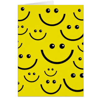 Smilie Face Background Greeting Card