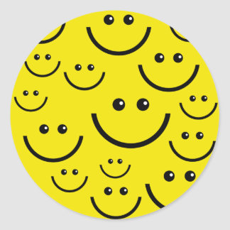 Smilie Face Background Round Sticker