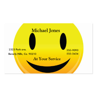 Smilie Face Happy Business Card Templates