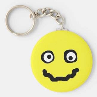 Smilie face key ring