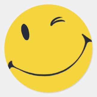Smilie Face Round Sticker