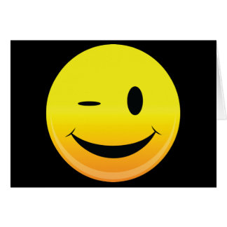 Smilie Face Wink Greeting Card