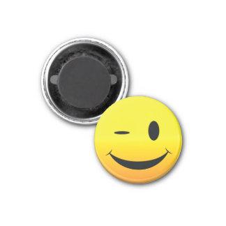 Smilie Face Wink Fridge Magnets