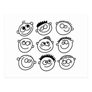 Smilie Faces Postcard