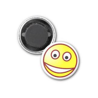 Smilie grinning smiley grin 3 cm round magnet