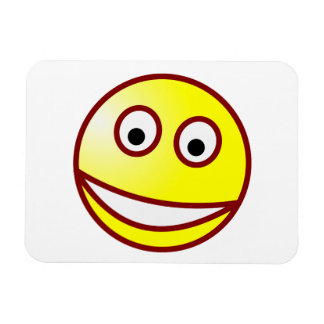 Smilie grinning smiley grin rectangular photo magnet