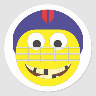 Smilie ice hockey player ice hockey more player classic round sticker