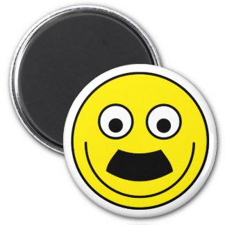 Smilie moustache smiley moustache 6 cm round magnet