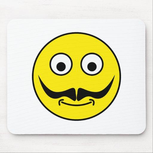 Smilie moustache smiley moustache mousepad