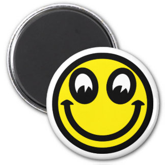 Smilie smiley 6 cm round magnet