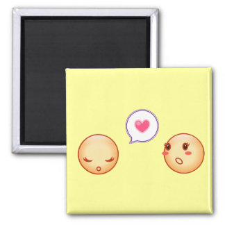 smilies square magnet